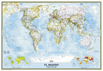 2005 World Classic Spanish Map by National Geographic Maps