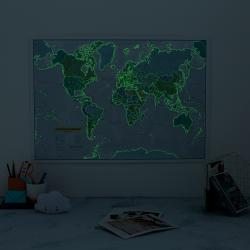 World Map, Glow in the Dark by Maps International Ltd.