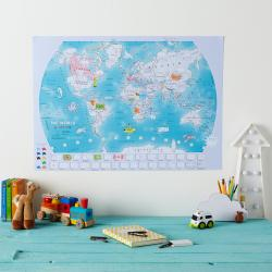 World, Doodle Map with Crayons by Maps International Ltd.