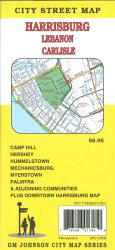 Harrisonburg, Lebanon, Carlisle Pennsylvania City Street Map by GM Johnson