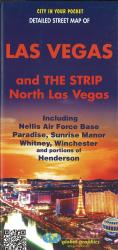 Las Vegas and The Strip, North Las Vegas Street Map by Global Graphics