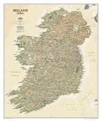 Ireland Executive Wall Map (30 x 36 inches) (Tubed) by National Geographic Maps