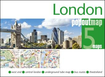 London to Paris, PopOut Map by PopOut Products