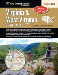 Virginia and West Virginia, Travel Atlas by Kappa Map Group