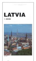 Latvia Road Map by GiziMap