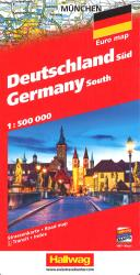 Germany South, Road Map by Hallwag