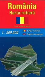 Romania Road Map by Amco Press