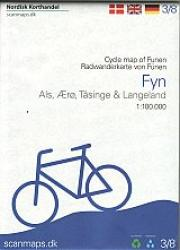 Cycle Map of Funen - Denmark 1:100,000 Cycle Map #3 by Nordisk Korthandel