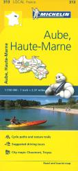 Michelin: Aube, Haute-Marne, France Road and Tourist Map by Michelin Travel Partner