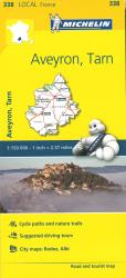 Michelin: Aveyron, Tarn, France Road and Tourist Map by Michelin Travel Partner