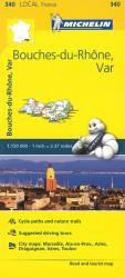 Michelin: Bouches Du Rhone, Var, France Road and Tourist Map by Michelin Travel Partner