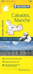 Calvados, Manche Road and Tourist Map by Michelin Travel Partner