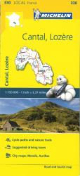 Michelin: Cantal Lozre, France Road and Tourist Map by Michelin Maps and Guides