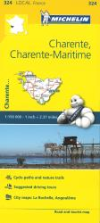 Michelin: Charente, Charente-Maritime, France Road and Tourist Map by Michelin Travel Partner