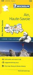 Michelin: Ain, Haute Savoie, France Road and Tourist Map by Michelin Travel Partner