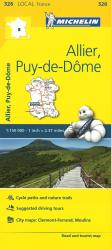 Michelin: Allier, Puy-de-Dome Road and Tourist Map by Michelin Travel Partner