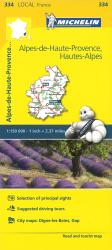 Alpes De Haute Provence Road and Tourist Map by Michelin Travel Partner