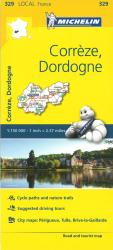Michelin: Correze, Dordogne, France Road and Tourist Map by Michelin Travel Partner