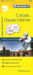 Creuse, Haute-Vienne Road and Tourist Map by Michelin Travel Partner