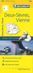 Michelin: Deux-Sevres, Vienne, France Road and Tourist Map by Michelin Maps and Guides