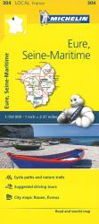 Michelin: Eure, Seine Maritime, France Road and Tourist Map by Michelin Travel Partner