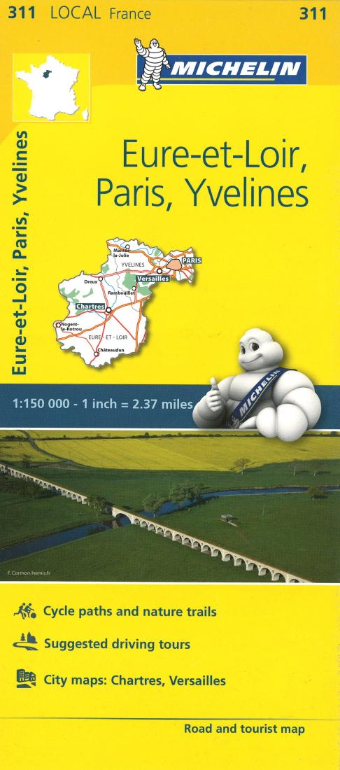 Map Of Yvelines France.Michelin Eure Et Loir Paris Yvelines France Road And Tourist Map
