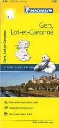 Michelin: Gers, Lot Et Garonne, France Road and Tourist Map by Michelin Travel Partner