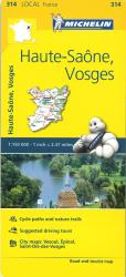 Michelin: Haute-Saone, Vosges Road and Tourist Map by Michelin Travel Partner