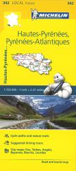 Michelin: Hautes Pyrenees, Pyrenees Atlantique, France Road and Tourist Map by Michelin Maps and Guides