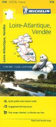 Michelin: Loire-Atlantique, Vendee, France Road and Tourist Map by Michelin Maps and Guides