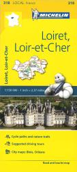 Michelin: Loiret, Loir Et Cher, France Road and Tourist Map by Michelin Travel Partner