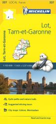 Michelin: Lot, Tarn Et Garonne, France Road and Tourist Map by Michelin Travel Partner