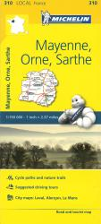Michelin: Mayenne, Orne, Sarthe Road and Tourist Map by Michelin Travel Partner