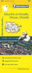 Michelin: Meurthe-et-Moselle, Meuse, Moselle Road and Tourist Map by Michelin Travel Partner