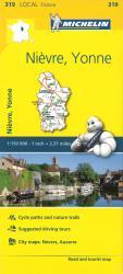 Michelin: Nievre, Yonne, France Road and Tourist Map by Michelin Maps and Guides