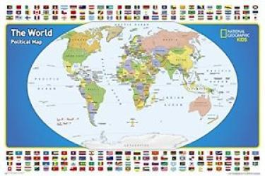 World for Kids, Poster-Sized, Boxed by National Geographic Maps