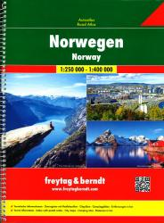 Norway Supertouring, Road Atlas by Freytag, Berndt und Artaria