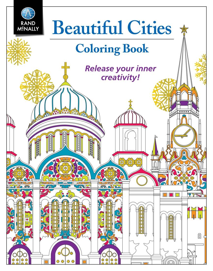 Beautiful Cities Coloring Book By Rand McNally