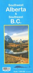Alberta, Southwest and British Columbia, Southeast Road Map by Gem Trek
