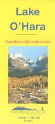 Lake O'Hara, Yoho Nat'l Park, British Columbia Trail Map and Guide in One by Gem Trek