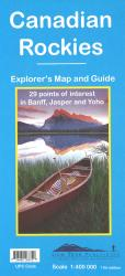 Canadian Rockies (Banff, Jasper, Yoho) Explorer's Map and Guide by Gem Trek