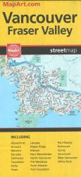 Vancouver and Fraser Valley Street Map by MapArt Publishing