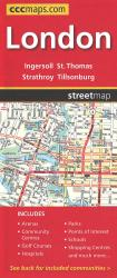 London Road Map by Canadian Cartographics Corporation