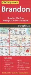 Brandon and Area Road Map by Canadian Cartographics Corporation