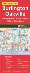 Burlington, Oakville, and area road map by Canadian Cartographics Corporation