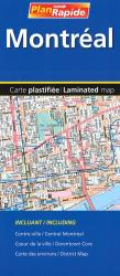 Montreal Laminated Street Map by