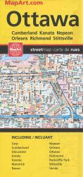 Ottawa and Area Road Map by