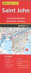 Saint John Road Map by Canadian Cartographics Corporation