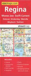 Regina and Area Road Map by Canadian Cartographics Corporation