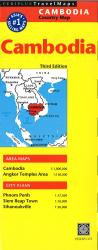 Cambodia Road Map by Periplus Editions